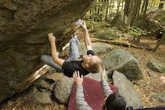 Rock Climbing Photo: Brendoom on Vintage at Boulder Natural.