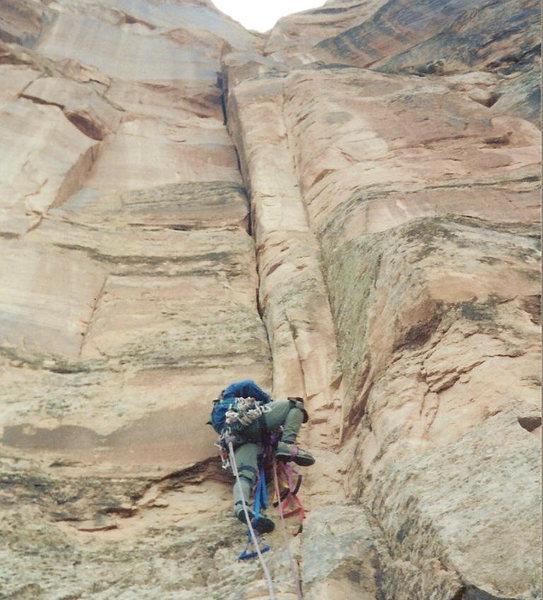 Rock Climbing Photo: Jason Repko starting up the 1st pitch.