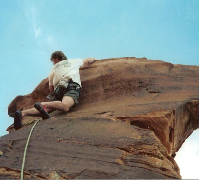 Rock Climbing Photo: Scott Powers Topping out, the same move you then h...