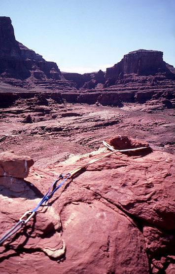 Summit anchor.  Photo;  Todd Gordon