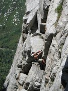Rock Climbing Photo: E rock on Hoffa Finger