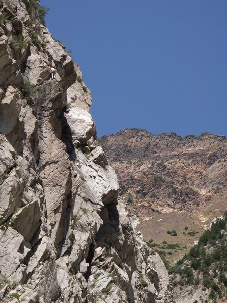 Rock Climbing Photo: Can you find the Doug?  Ornery Miss Garrett is the...