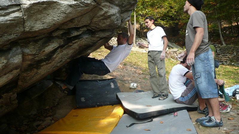Rock Climbing Photo: Albi on Mamma li turchi 6b+