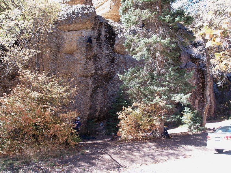 Rock Climbing Photo: Rock Island, Maple Canyon  (photo by Perin Blancha...