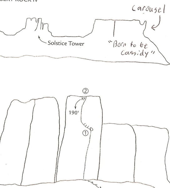 Drawing out of Bjornstad's Desert Rock IV