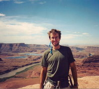 Rock Climbing Photo: Some sweet helmet hair, the Colorado river, and th...