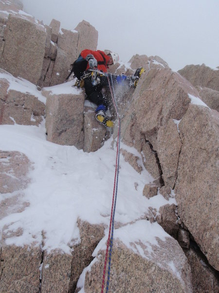 Rock Climbing Photo: Mike Hannig on the 1st pitch.