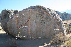 Rock Climbing Photo: Birthday Boulder North Face Topo