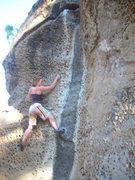 Rock Climbing Photo: Katy on Bourbon IV (a.k.a. The Black Streak)