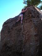 Rock Climbing Photo: Katy on Zygote V0