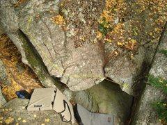 Rock Climbing Photo: the line of Mrs. Lovett