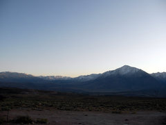 Rock Climbing Photo: Mount Tom and the Sierra just after sunset from th...