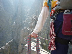 Rock Climbing Photo: Ready! Poised to huck for the granite spike that m...