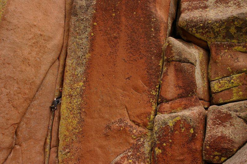 Rock Climbing Photo: Scott taking a well deserved rest on a warm-up bur...