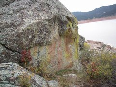 Rock Climbing Photo: The Traverse starts down and right, under the litt...