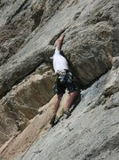 Rock Climbing Photo: 5.9 in the shield in Jackson hole, wy...