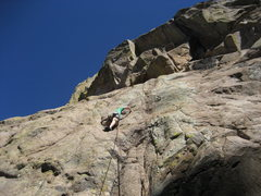 Rock Climbing Photo: Ross Allen at the second bolt of an unknown route ...