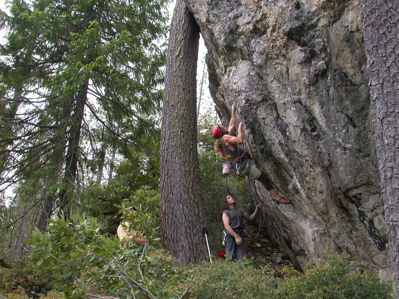 Rock Climbing Photo: Eric pulling onto Forty Feet to Freedom(10d) for t...