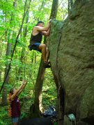 Rock Climbing Photo: Me topp'n- Kendra luckily not crushed by large fal...