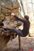 Rock Climbing Photo: Midway through Growing Stone