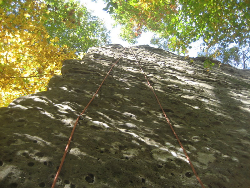 Rock Climbing Photo: Master Marley 5.10a, Spleef Peak, Jackson Falls