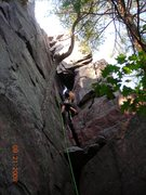 Rock Climbing Photo: Jon J reclining (well- not really) on a Reclining ...