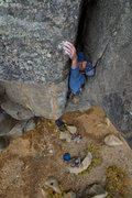 Rock Climbing Photo: Joshua on the By Gully