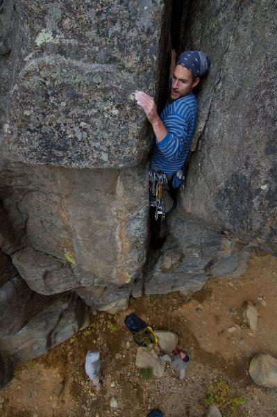 Rock Climbing Photo: Joshua on the By Gully