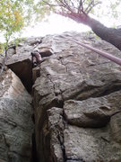 Rock Climbing Photo: Crux move for me.