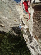 Rock Climbing Photo: Myself coming up P1.