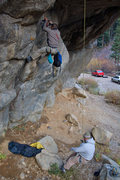 Rock Climbing Photo: Replacing the old bolt.