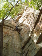 Rock Climbing Photo: Myself at the crux.