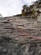 Rock Climbing Photo: Brendan on P1 Arrow.
