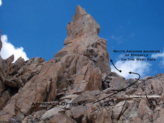 Rock Climbing Photo: The formation with Take Two on it from the approac...