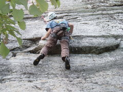 Rock Climbing Photo: Seconding Absurd.