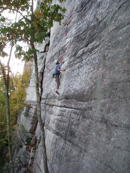 Never Never Land: Nice slab climbing.