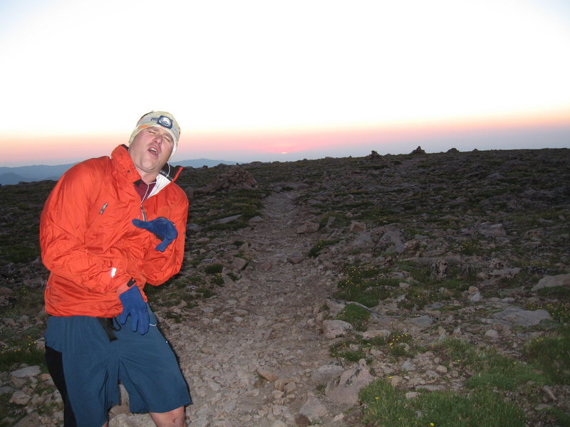 Mile 36 of 40  (hour 12 of 14) in RMNP<br> 'training for Leadville 100'