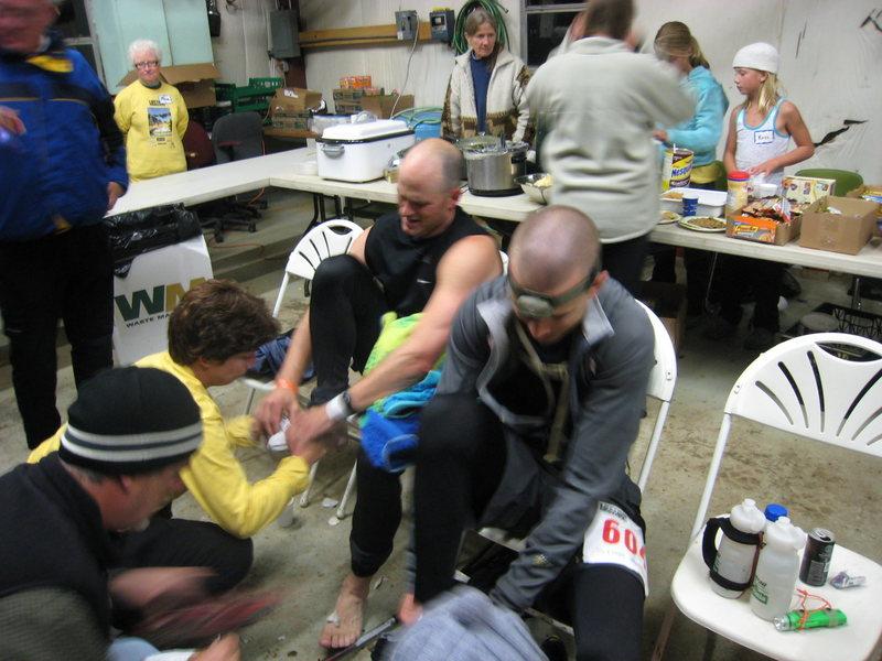 Rock Climbing Photo: LT100 Twin Lakes Aid Station