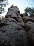 Rock Climbing Photo: Kendra looks like she led King's Throne but actual...