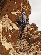 Rock Climbing Photo: Diana Rogers pulling roof right off one of the low...