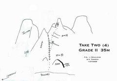 Rock Climbing Photo: A topo for Take Two