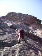 Rock Climbing Photo: Starting too far to the right/north. Interesting t...