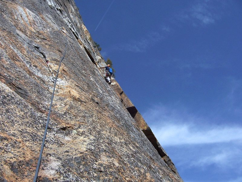 Rock Climbing Photo: Me on the East Buttress of Middle Cathedral (2008)