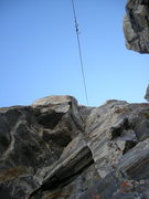 Rock Climbing Photo: pulling our rope from the only repel we did on the...