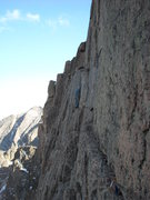 Rock Climbing Photo: The last traverse of the casual route at the diamo...
