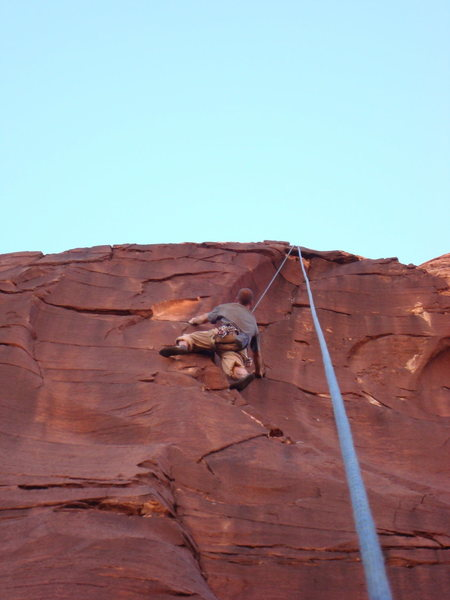 Rock Climbing Photo: Me contemplating the next few moves which I found ...