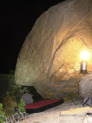 Rock Climbing Photo: A great time out bouldering by headlamp and lanter...