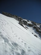 Rock Climbing Photo: boot tracks; high on Grand Teton