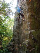 Rock Climbing Photo: A beautiful fall day on S.A.M.  Photo by Travis Me...