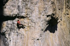 "Rock Climbing Photo: Juston Ledoux climbing with (""Ledoux Finesse&..."
